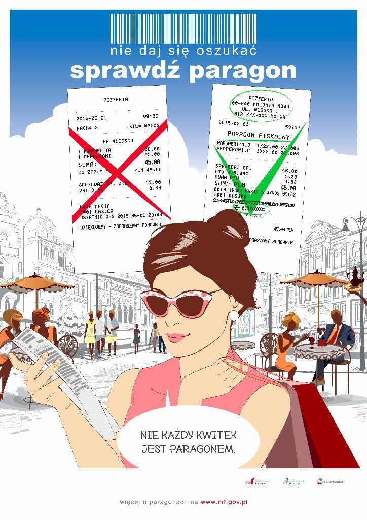 Sprawdz paragon plakat