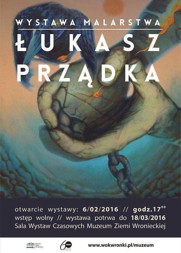 plakat wystawy Łukasza Prządka mW