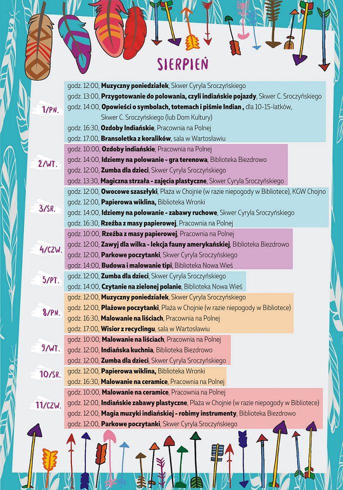 Sierpień - program