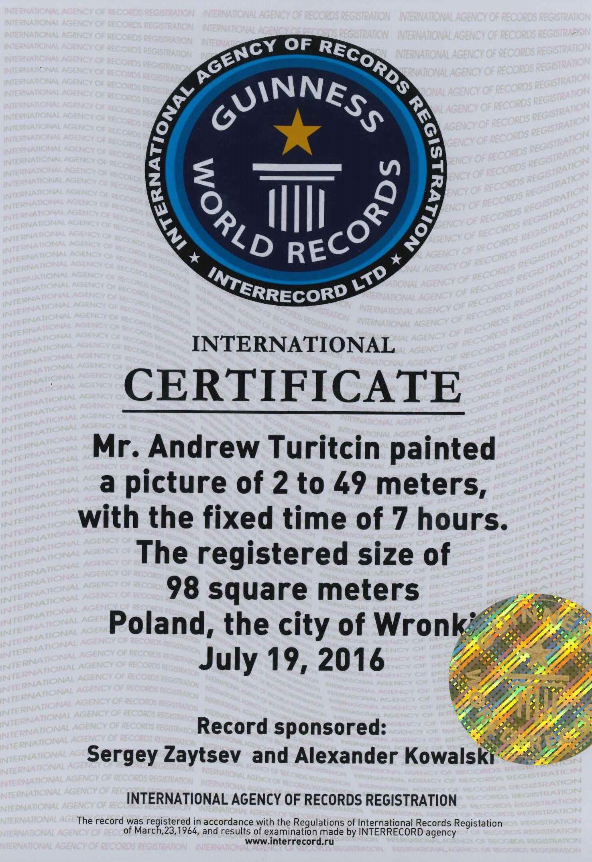 Podrobiony certyfikat – fot. Wronki.pl