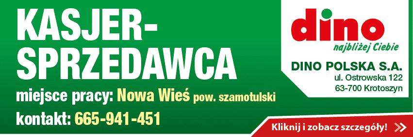 Dino - Wronki - praca kasjer-sprzedawca