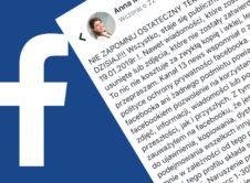 """Wielu z Was czytało i udostępniło pewne oświadczenie. Treść komunikatu głosi, że zabraniacie Facebookowi przetwarzania swoich danych. Teoretycznie brzmi to świetnie, a jak wygląda praktyka? Od paru dni po Facebooku krąży """"oświadczenie"""", za pomocą którego osoba publikująca je na swoim profilu, miałaby poinformować właścicieli tego popularnego portalu społecznościowego, że nie życzy sobie, aby wykorzystywano informacje […]"""
